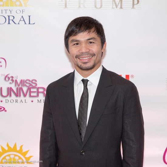 Miss Universe Red Carpet - Manny Pacquiao